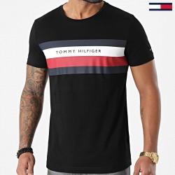Tommy Tee shirt stripe noir